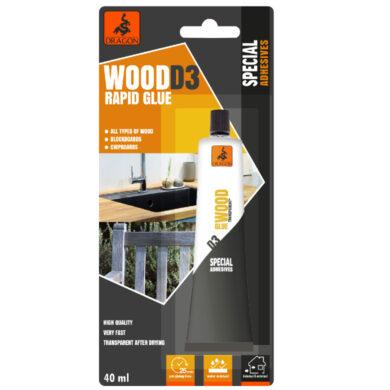 DRAGON Wood RAPID glue D3 40ml na dřevo(DKDD3040_BL_INT1)
