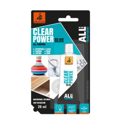 DRAGON All in one CLEAR POWER univerzální čiré lepidlo 20 ml(DKUP020_BL_INT1)