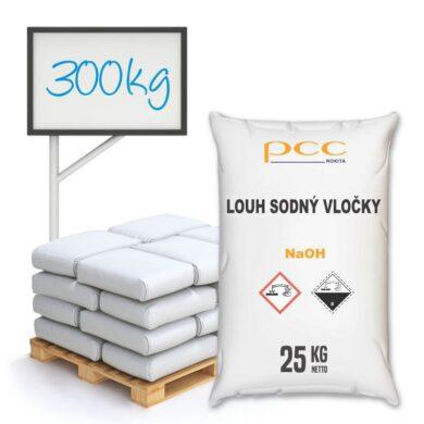Louh sodný vločky, hydroxid sodný 300 kg(KC-00027)