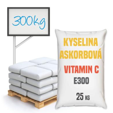 Vitamin C, kyselina askorbová, potravinářská 300 kg(KW-0002)