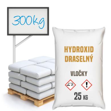 Hydroxid draselný - vločky, 300 kg(PCCEL-00002)