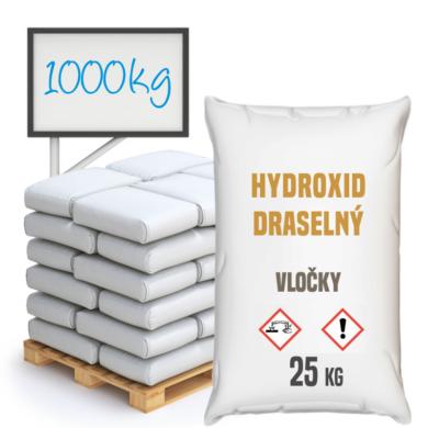 Hydroxid draselný - vločky, 1000 kg(PCCEL-00003)