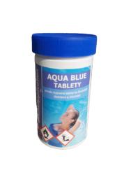 Aqua Blue Pomalu rozpustné tablety na úpravu bazénové vody 1 kg-Aqua Blue Tablety 1kg jsou pomalu, beze zbytku rozpustné 200g tablety s cca 80% aktivního chloru, vhodné pro průběžnou dlouhodobou dezinfekci bazénové vody.