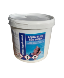 Aqua Blue ŠOK Super prostředek k rychlému zachlorování bazénové vody 3 kg-Aqua Blue ŠOK Super je nestabilizovaný přípravek na rychlé zachlorování bazénové vody a tím i likvidaci bakterií a řas.