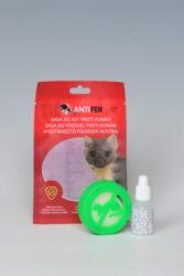 Antifer pachový ohradník na kuny 10 ml s aplikátorem na magnet-Antifer - plastový aplikátor s magnety ochrání vaše vozidlo i pozemek, půdu, sklep a nebo slepice před nebezpečnou kunou a není škodlivý pro domácí mazlíčky. Produkt je charakteristický svým jedinečným složením několika pachů, díky kterému lze předejít nežádoucímu poškození kabeláže a textilních prvků v automobilech, které způsobují hlodavci a kuny. Přípravek je netoxický.