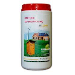 BioClean BIODRY - ekologický přípravek do suchých WC 1 kg-Biologický přípravek BIODRY do suchých WC a latrín. Zrychluje rozklad organických látek a odstraňuje nepříjemné zápachy. Doporučuje se pro použití v záchodech u rodinných domů, rekreačních domů a v latrínách nebo suchých WC. Ideální pro vlastníky chat a chalup.