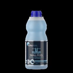 GUAa POOL SMALL POOL Bezchlórová bazénová chemie 1l-SMALL POOL je tekutý, koncentrovaný přípravek pro dezinfekci a hygienické zabezpečení vody v dětských a menších bazénech do objemu 20 m3 (s filtrací i bez filtrace). Má výrazný a dlouhodobý účinek proti mikroorganismům a řasám.  Dostupný v balení:  láhev 1 litr kanystr 3 litry