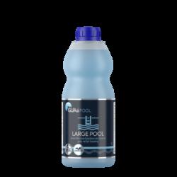 GUAa POOL LARGE POOL Bezchlórová bazénová chemie 1l-LARGE POOL je tekutý, koncentrovaný přípravek pro dezinfekci a hygienické zabezpečení vody v domácích (krytých i nekrytých) bazénech. Má výrazný a dlouhodobý účinek proti mikroorganismům a řasám.