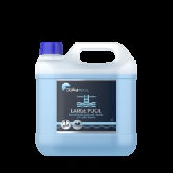 GUAa POOL LARGE POOL Bezchlórová bazénová chemie 3l-LARGE POOL je tekutý, koncentrovaný přípravek pro dezinfekci a hygienické zabezpečení vody v domácích (krytých i nekrytých) bazénech. Má výrazný a dlouhodobý účinek proti mikroorganismům a řasám.