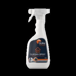 GUAa HOME GUASAN SPRAY bezchlór. dezinfekč. spray 0,5l-Tekutý dezinfekční prostředek k okamžitému použití pro rychlou dezinfekci ploch, předmětů, povrchů a těžko přístupných míst postřikem. Je charakteristický silným a dlouhotrvajícím antibakteriálním, antivirovým a protiplísňovým účinkem bez negativních vlivů na jakékoli ošetřované materiály (sklo, dřevo, kovy, plast, papír, textilie, gumu).