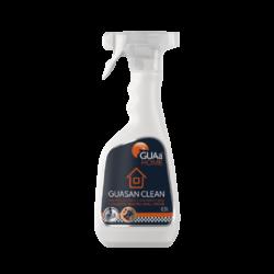 GUAa HOME GUASAN CLEAN - bezchlór.čistící a dezinfekč. spray 0,5l-Čisticí a dezinfekční prostředek určený pro úklid a dezinfekci sanitárních prvků. GUASAN CLEAN je přípravek na mytí koupelen, umyvadel, vodovodních baterií, obkladů, van, WC, nerezu, keramiky, kameniny, pálených cihel a ostatních sanitárních povrchů. Výborně odstraňuje vodní kámen a odolné usazeniny. Je charakteristický silnou a dlouhotrvající baktericidní, fungicidní a protikvasinkovou účinností.