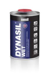 """Dynasil WET 1 l mpregnace na beton, kámen a keramiku s efektem zvýraznění barev-DYNASIL® WET 1l je koncentrovaný přípravek nejnovější generace pro ochranu povrchu před povětrnostními podmínkami, skvrnami a s efektem zvýraznění barev - """"efekt mokrého povrchu"""". Impregnace vytváří tenkou keramickou strukturu uvnitř otevřených pórů materiálu a přináší vysokou mechanickou a chemickou odolnost. Ideální pro místa s nebezpečím tvorby nečistot a skvrn, např. v kuchyních, koupelnách, na terasách a příjezdových cestách. Dostupný v balení: 1l láhev 5l kanystr"""