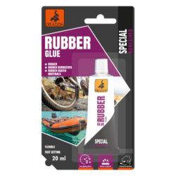 DRAGON Rubber glue 20ml lepidlo na pryž-Voděodolné, odolnost spáry vůči teplotě: -40 °C až + 70 °C, vnitřní a vnější použití, pružné. Žluté.  Aplikace: určeno ke spojování pryže, kůže, textilu, plsti, keramiky, dřeva, korku, plastů atd.