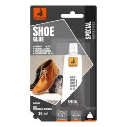 DRAGON Shoe glue 20ml lepidlo na boty-Bezbarvé, odolnost spáry vůči teplotě: -20 ° C až +80 ° C, polyuretan, velmi pevné, vodotěsné.  Určeno pro lepení přírodní a syntetické kůže, gumy, PVC, podrážek z polyuretanu.
