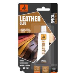 DRAGON Leather glue 20ml lepidlo na kůži-Odolné, flexibilní, univerzální, vnitřní i venkovní použití, vodotěsné. Nažloutlé.  Aplikace: určené pro lepení kůže za studena (např. opasek, taška, sedlo), gumy a plsti atd. Lze jej použít k lepení obuvi.