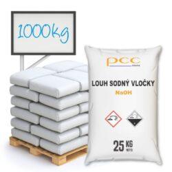 Louh sodný vločky, hydroxid sodný 1000 kg-Hydroxid sodný (NaOH), kaustická soda, louh sodný - má čisticí a dezinfekční vlastnosti. Využívaný v mnoha průmyslech.   Nebezpečná látka, dodržujte bezpečnostní opatření. Nabídka výhradně pro firmy.  Hydroxid sodný je dostupný v balení: 25 kg 300 kg 1 000 kg