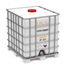 Louh sodný, hydroxid sodný (vodný roztok 49 - 51%), IBC kontejner 1150 kg-Hydroxid sodný (NaOH), vodný roztok 49-51% čistá hmotnost 1 150 kg - jinak louh sodný.  Má mycí a dezinfekční vlastnosti. Louh sodný je nebezpečná látka, dodržujte bezpečnostní opatření. Nabídka výhradně pro firmy.