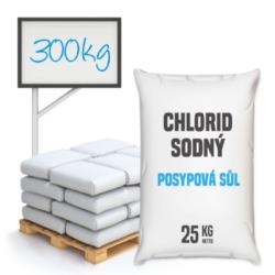 Posypová sůl - chlorid sodný, distripark 300 kg-Posypová sůl - chlorid sodný. Používání kamenné soli je nejrozšířenější způsob údržby komunikací, chodníků a náměstí v zimním období. Sůl je balená v 25kg pytlích po 12 ks na paletě. Námi nabízená sůl obsahuje protihrudkující látku.  Posypová sůl - chlorid sodný je dostupný v baleních: 5 kg 10 kg 25 kg 300 kg 1000 kg