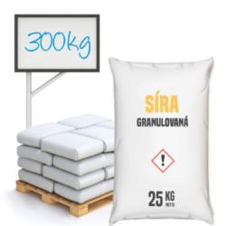 Síra granulovaná 300 kg-Granulovaná síra. Frakce síry je v průměru 4,5 mm. Síra jako chemická sloučenina má velmi důležitou funkci v životě rostlin a jejich správném vývoji a ochraně. Používá se k okyselení půdy. Jejím úkolem je pomáhat vstřebat dusík z půdy. Používá se mimo jiné i při pěstování jabloní, které ochrání před jabloňovým padlím.  Granulovaná síra je dostupná v baleních: 25 kg 300 kg 1000 kg