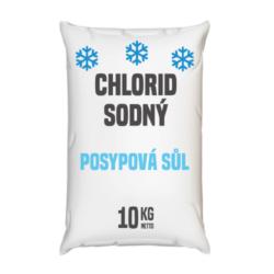 Posypová sůl  - chlorid sodný, distripark 10 kg-Zimní posypová sůl - chlorid sodný. Používání kamenné soli je nejrozšířenější způsob údržby komunikací, chodníků a náměstí v zimním období. Sůl je balená v 10kg pytlích. Námi nabízená sůl obsahuje protihrudkující látku.  Posypová sůl - chlorid sodný je dostupný v baleních: 5 kg 10 kg 25 kg 300 kg 1000 kg