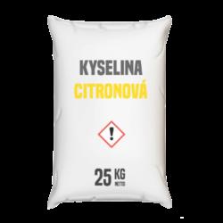 Distripark Kyselina citronová 25 kg-Kyselina citronová 25 kg - běžně používaná v potravinách - kódové označení E330 - jako regulátor kyselosti a současně jako složka prodlužující trvanlivost výrobků.  Není to konzervační látka, ale snížením pH zvyšuje trvanlivost části vitamínů a živin. Kyselina citronová je organická sloučenina ze skupiny hydroxykarbolových kyselin, získávaná chemickou syntézou nebo citronovou fermentací očištěného cukru nebo škrobového hydrolyzátu s pomocí plísňových kultur. Zmínky o jejím rakovinotvorném působení nenacházejí žádné potvrzení.  Kyselina citronová je dostupná v balení: 25 kg pytel 300 kg polopaleta 1000 kg paleta