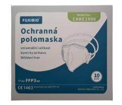 RESPIRÁTOR CARE FFP3 BAL. 10KS-Respirátor třídy FFP3 neboli filtrační polomaska s tvarovatelnou páskou kopírující tvar nosu a elastickou gumičkou k upínání respirátoru za hlavu. Vysoká filtrační schopnost proti prachovým částicím, bakteriím a virům. Vysoká prodyšnost.  Baleno: 10 ks jednotlivě ve fólii
