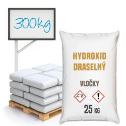 Hydroxid draselný - vločky, 300 kg-Hydroxid draselný vločky, anorganická chemická sloučenina KOH ze skupiny hydroxidů. Je jednou z nejsilnějších zásad na světě (pH 14). Prodává se ve formě bílé pevné látky, která se rozpouští pod vlivem vlhkosti. Výrobek se silnými hygroskopickými vlastnostmi, velmi dobře se rozpouští ve vodě. Výrobek pro profesionální použití.  Hydroxid draselný vločky je dostupný v balení: 25 kg pytel 300 kg polopaleta 1000 kg paleta