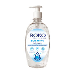 Antibakteriální mýdlo Roko Professional 0,5 l-Profesionální tekuté mýdlo ROKO PROFESSIONAL DUO ACTIVE - mýdlo obsahuje vyživující složky, které zlepšují hydrataci, pružnost a hebkost pokožky. Dermatologicky a mikrobiologicky testováno, má neutrální pH, neobsahuje barviva ani vonné složky, zajišťuje hygienickou čistotu a je jemné k pokožce.