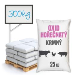 Oxid hořečnatý, krmný 300 kg-Oxid hořečnatý krmný 25 kg - také nazývaný kalcinovaný magnezit, je anorganická chemická sloučenina odvozená ze skupiny základních oxidů. Obsahuje hořčík na druhém stupni oxidace. Má poměrně širokou škálu použití. Je mimo jiné vhodnou přísadou do krmiv a premixů.  Oxid hořečnatý je k dostání v baleních: 25 kg pytel 300 kg polopaleta 1000 kg paleta
